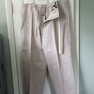Linen loose fit pants